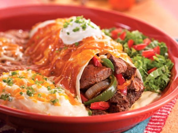 Fajita Steak Burrito