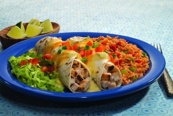 Lite Fajita Chicken Enchiladas